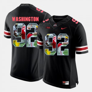 For Men Pictorial Fashion Black Adolphus Washington OSU Jersey #92 418195-430