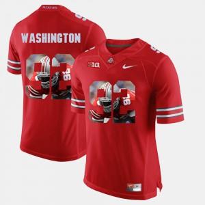 #92 For Men's Adolphus Washington OSU Jersey Pictorial Fashion Scarlet 936374-614