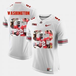 White Pictorial Fashion Adolphus Washington OSU Jersey #92 Men's 323549-696