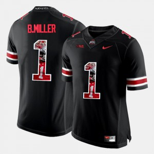 #1 Black For Men's Pictorial Fashion Braxton Miller OSU Jersey 111625-328