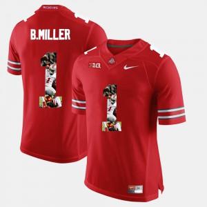 Braxton Miller OSU Jersey Scarlet #1 Men Pictorial Fashion 900510-283