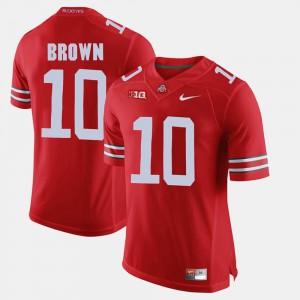 Scarlet CaCorey Brown OSU Jersey #10 For Men Alumni Football Game 222949-253