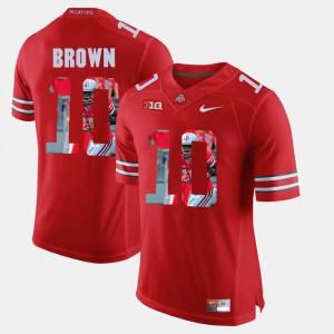 #10 Scarlet CaCorey Brown OSU Jersey For Men Pictorial Fashion 231821-191