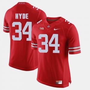 Alumni Football Game #34 CameCarlos Hyde OSU Jersey Scarlet For Men 562551-519