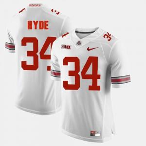 Alumni Football Game White CameCarlos Hyde OSU Jersey #34 Men 155567-710