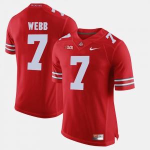 Scarlet For Men #7 Damon Webb OSU Jersey Alumni Football Game 647394-314