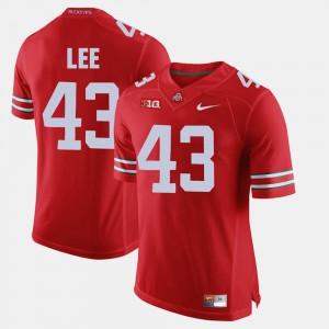 For Men's Alumni Football Game Scarlet #43 Darron Lee OSU Jersey 997116-153