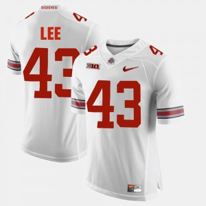 Men Alumni Football Game Darron Lee OSU Jersey White #43 271117-981