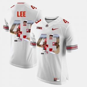 Mens Pictorial Fashion #43 Darron Lee OSU Jersey White 762163-540