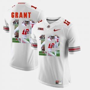 Pictorial Fashion White Doran Grant OSU Jersey #12 For Men 780267-798