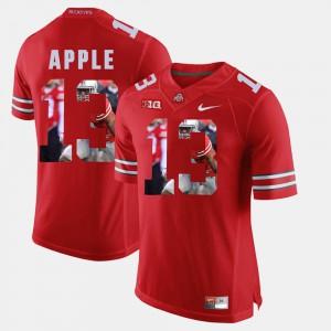 #13 Scarlet Men Eli Apple OSU Jersey Pictorial Fashion 499548-144