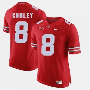 Men's Scarlet Gareon Conley OSU Jersey #8 Alumni Football Game 562539-279