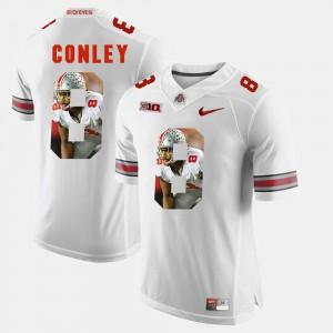 #8 Gareon Conley OSU Jersey White Men's Pictorial Fashion 959098-675