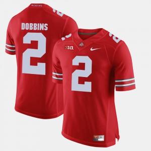 Men Alumni Football Game #2 J.K. Dobbins OSU Jersey Scarlet 709853-865