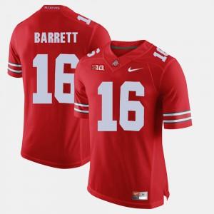 Scarlet #16 Men's Alumni Football Game J.T. Barrett OSU Jersey 530852-183