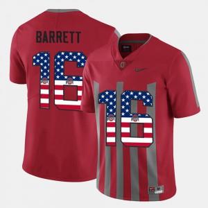 US Flag Fashion Scarlet For Men's J.T. Barrett OSU Jersey #16 118917-835