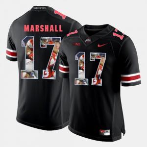 Black Jalin Marshall OSU Jersey #17 Pictorial Fashion Mens 218664-194