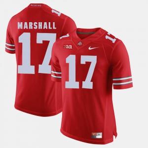 For Men's Scarlet Jalin Marshall OSU Jersey Alumni Football Game #17 856647-998