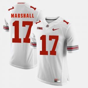 Alumni Football Game #17 White For Men Jalin Marshall OSU Jersey 371717-779