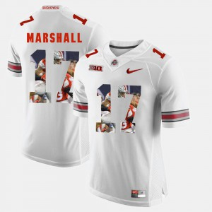 Jalin Marshall OSU Jersey #17 Pictorial Fashion White Men 902663-441