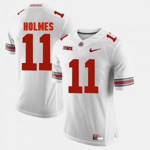 Alumni Football Game White Men's #11 Jalyn Holmes OSU Jersey 648517-632