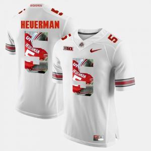 Pictorial Fashion #5 Jeff Heuerman OSU Jersey Mens White 430744-219