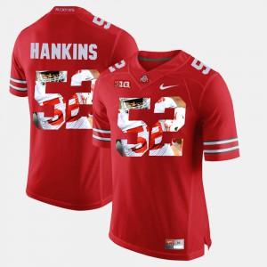 #52 Johnathan Hankins OSU Jersey Scarlet Pictorial Fashion Mens 975628-561