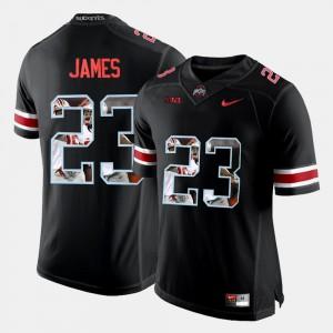 Men's Pictorial Fashion Black Lebron James OSU Jersey #23 574765-270