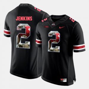 For Men's Pictorial Fashion #2 Malcolm Jenkins OSU Jersey Black 880738-848