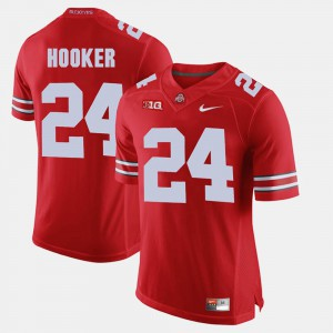 #24 Men's Scarlet Malik Hooker OSU Jersey Alumni Football Game 470707-926