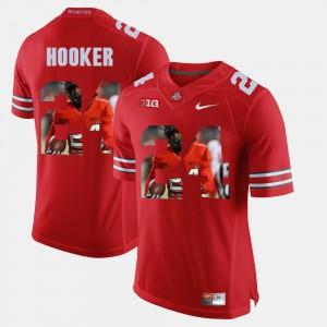 Pictorial Fashion Scarlet #24 For Men's Malik Hooker OSU Jersey 845022-669