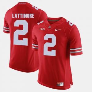 #2 Marshon Lattimore OSU Jersey Alumni Football Game Scarlet For Men 161074-951