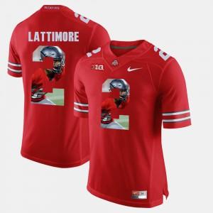 Marshon Lattimore OSU Jersey Scarlet For Men Pictorial Fashion #2 796206-971