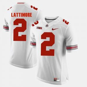 #2 Marshon Lattimore OSU Jersey Men's Alumni Football Game White 285145-561