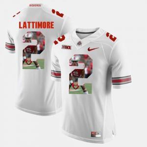 Pictorial Fashion For Men White #2 Marshon Lattimore OSU Jersey 616429-593