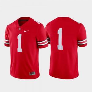 Game Scarlet College Football OSU Jersey #1 Men's 641816-260