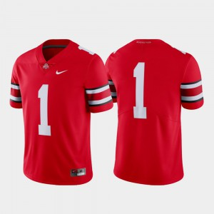 #1 OSU Jersey College Football Men's Scarlet Limited 972836-295