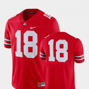 2018 Game #18 OSU Jersey For Men College Football Scarlet 252345-916