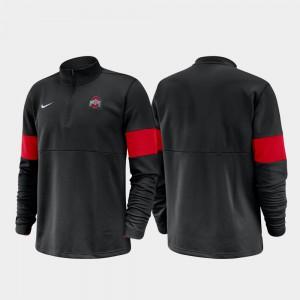 Half-Zip Performance For Men Black OSU Jacket 2019 Coaches Sideline 261615-323