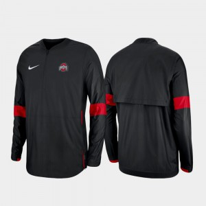 OSU Jacket Black 2019 Coaches Sideline Mens Quarter-Zip 260261-255