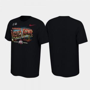 For Men 2019 Fiesta Bowl Bound Black OSU T-Shirt Illustrations 887605-837