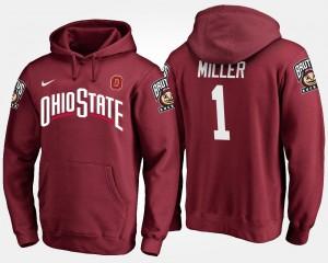 Braxton Miller OSU Hoodie Scarlet For Men #5 836386-453