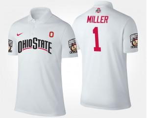 Braxton Miller OSU Polo Men's #1 White 831994-405