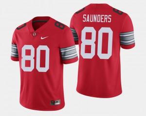 2018 Spring Game Limited For Men's #80 Scarlet C.J. Saunders OSU Jersey 839683-607