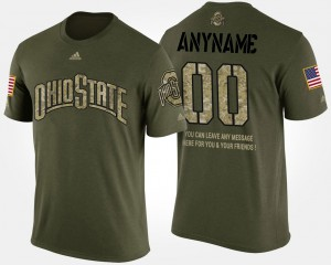 Short Sleeve With Message For Men's Military #00 Camo OSU Customized T-Shirts 424764-538