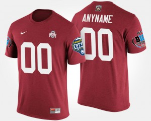 OSU Customized T-Shirts Bowl Game Scarlet Big Ten Conference Cotton Bowl For Men's #00 133310-756