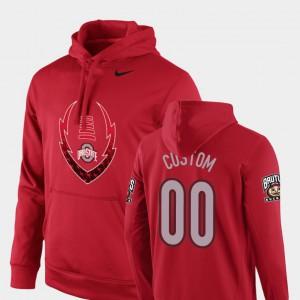 Football Performance #00 Men Icon Circuit Scarlet OSU Custom Hoodies 146462-520