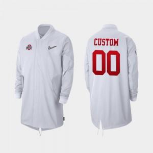 #00 White Men's OSU Custom Jackets Full-Zip Sideline 2019 College Football Playoff Bound 672395-317