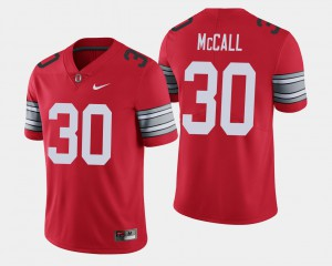 Demario McCall OSU Jersey Scarlet #30 2018 Spring Game Limited Mens 896251-395