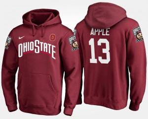 Eli Apple OSU Hoodie Scarlet #13 For Men 973222-199